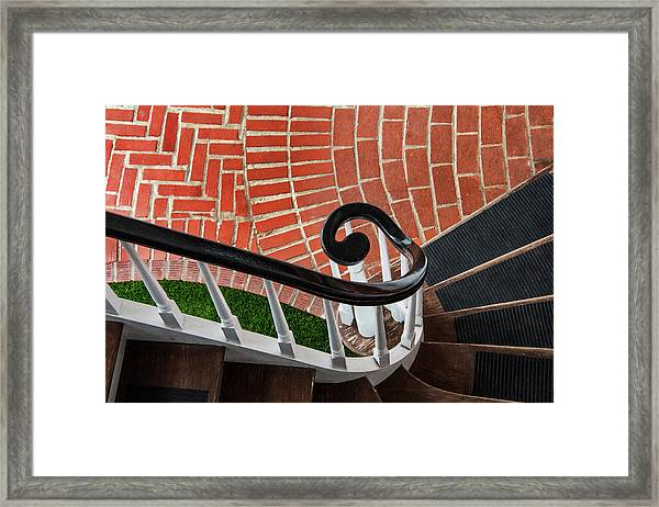 Staircase To The Plaza Framed Print