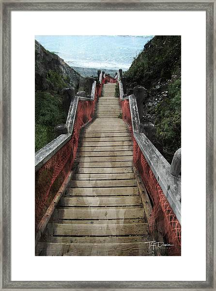 Stairs To Bliss Framed Print