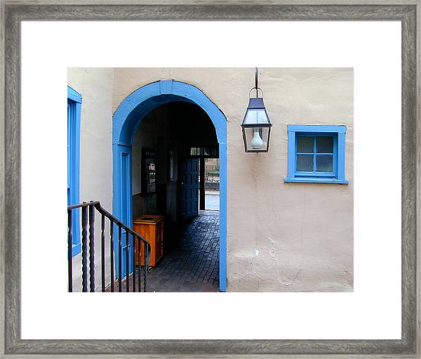 Framed Print featuring the photograph Stairs To The Tunnel To The Door by Joseph R Luciano