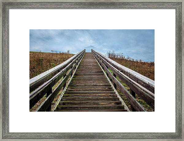 Stairway To The Sky Framed Print
