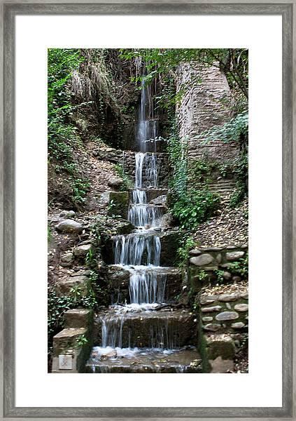 Stairway Waterfall Framed Print