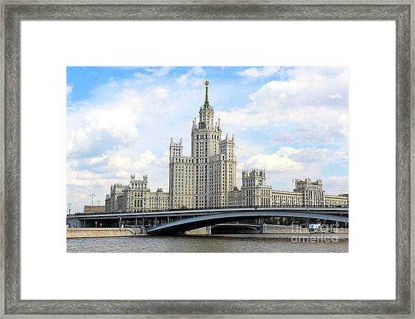 Kotelnicheskaya Embankment Building Framed Print