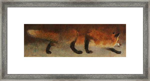 Stalking Fox Framed Print