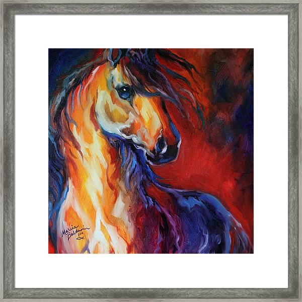 Stallion Red Dawn Framed Print