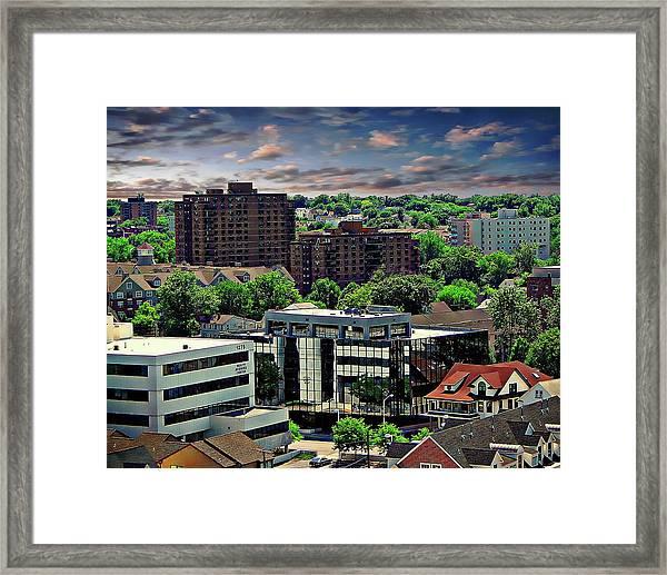 Stamford Cityscape Framed Print