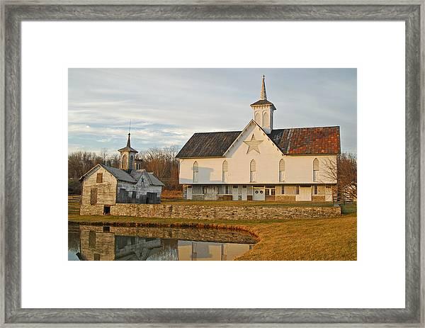Star Barn Sunset Framed Print