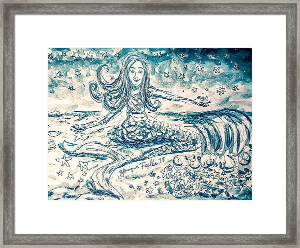 Star Bearer Mermaid Framed Print
