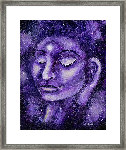 Star Buddha Of Purple Patience Framed Print