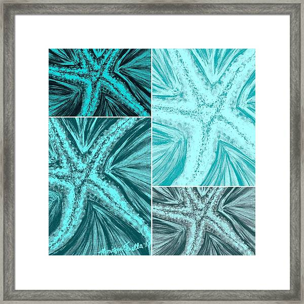 Starfish Pop Art Framed Print