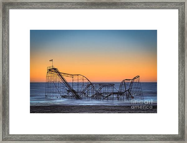 Star Jet Roller Coaster Ride  Framed Print