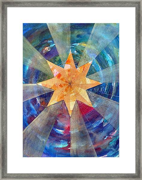Star Mandala 1  Framed Print