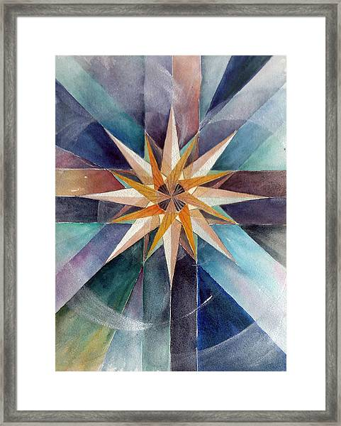 Star Mandala 2  Framed Print