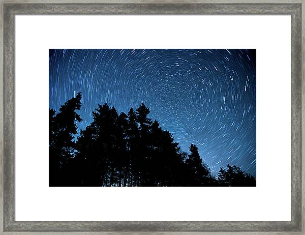 Star Trails In Acadia Framed Print