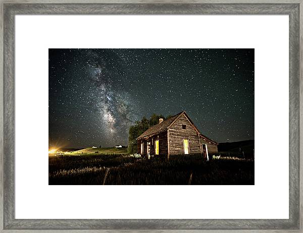 Star Valley Cabin Framed Print