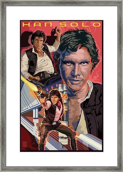 Star Wars Han Solo On Tatooine Framed Print