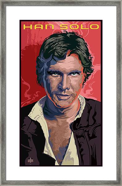 Star Wars Han Solo Pop Art Portrait Framed Print