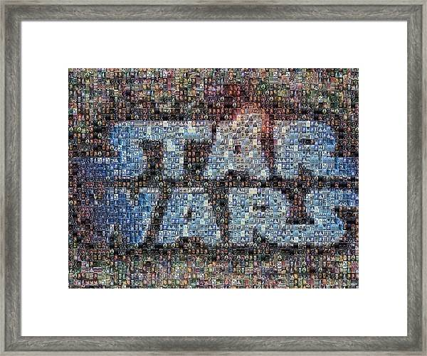 Star Wars Posters Mosaic Framed Print