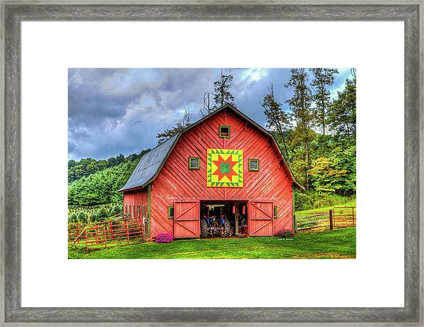 Star Within A Star Framed Print