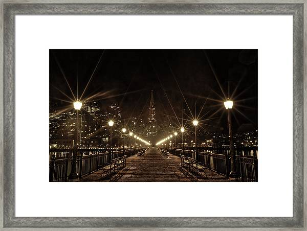 Starburst Lights Framed Print