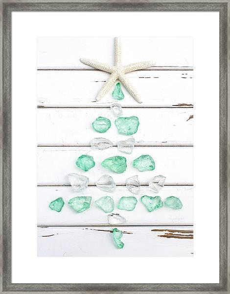 Starfish Christmas Tree Framed Print
