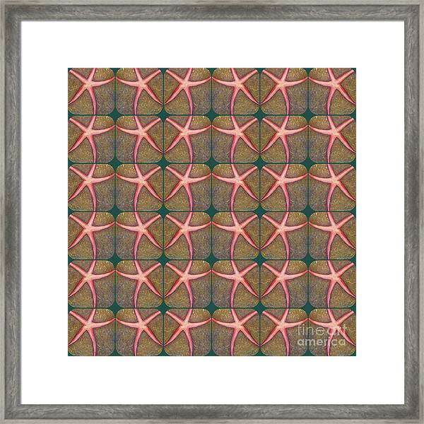 Starfish Pattern Framed Print