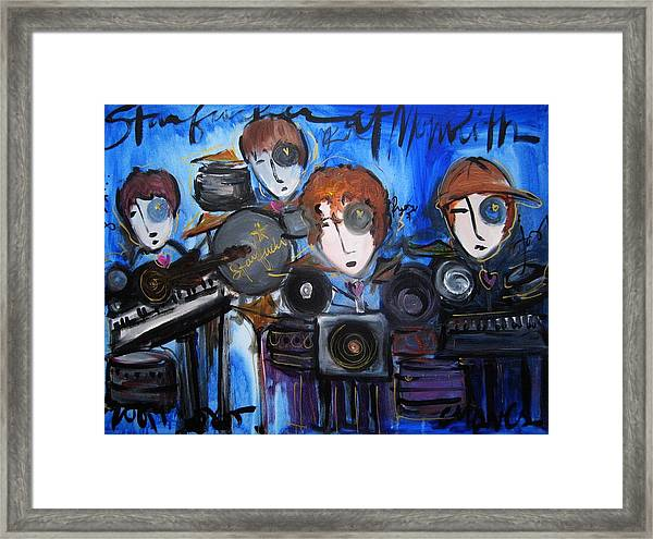 Framed Print featuring the painting Starfucker At Monolith by Laurie Maves ART