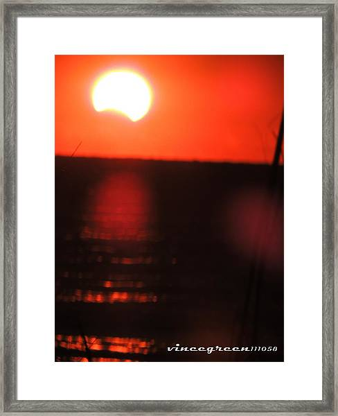Staring Into A Star Eclipsed Framed Print