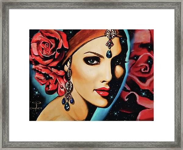 Starlight Rose Framed Print