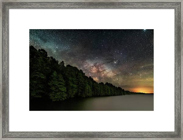Starlight Swimming Framed Print