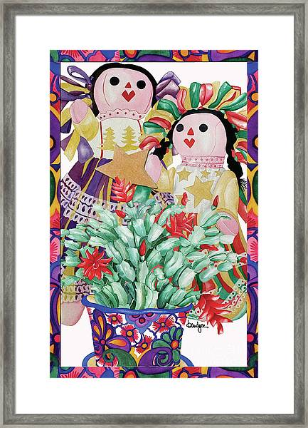 Starring The Christmas Cactus Framed Print