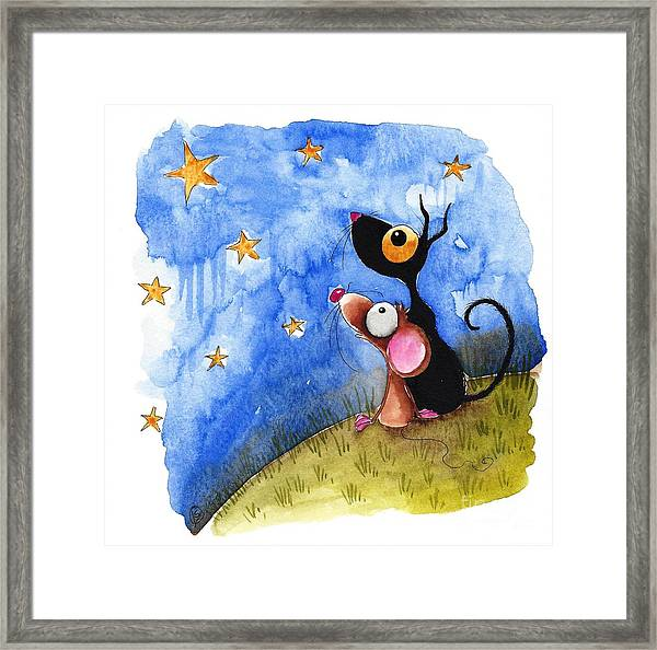 Starry Evening Framed Print