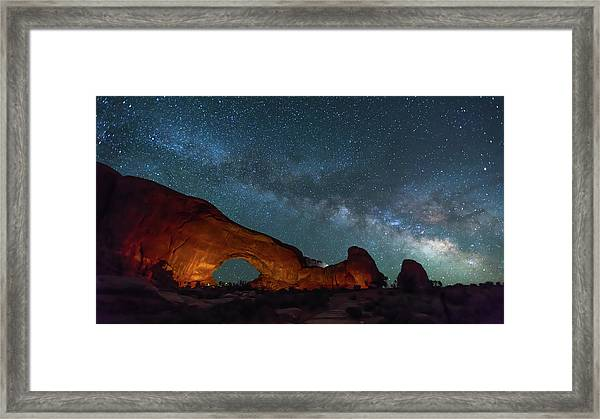 Starry Night At North Window Rock Framed Print