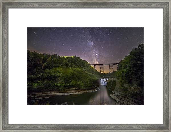 Starry Sky At Letchworth Framed Print