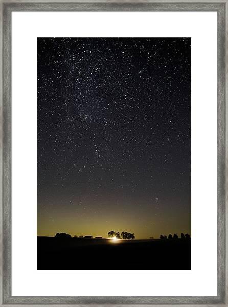 Starry Sky Over Virginia Farm Framed Print