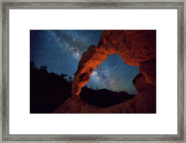 Starry Summer Night Framed Print