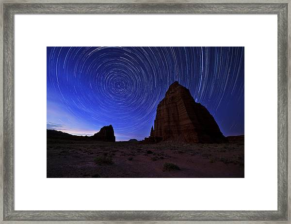 Stars Above The Moon Framed Print