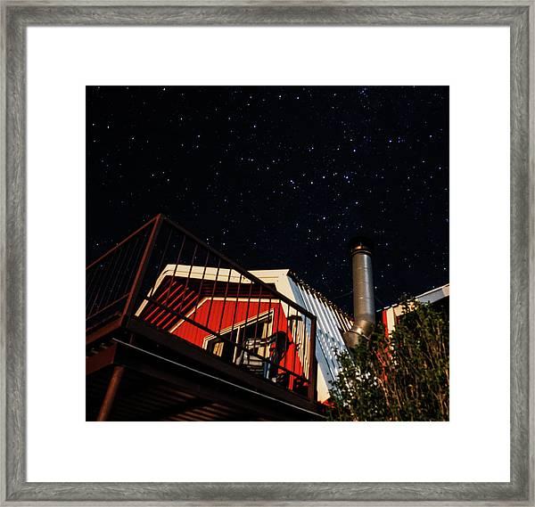 Stars Over Gila Cottage Framed Print