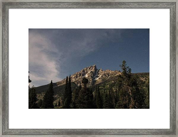 Stars Over Grand Teton Framed Print