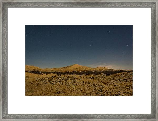 Stars Over Kelso Dunes Framed Print