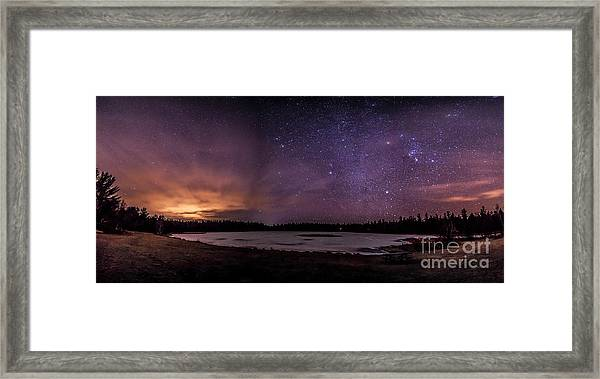 Stars Over Lake Eaton Framed Print