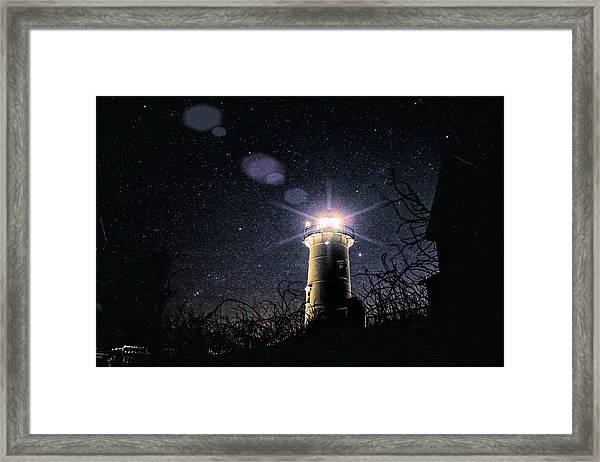 Stars Over Nobska Lighthouse Framed Print
