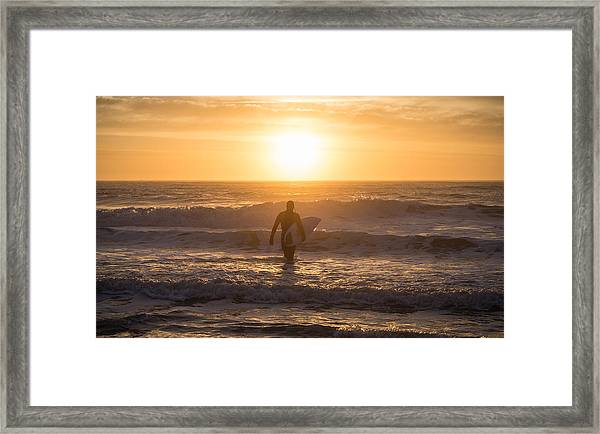 Start The Day Surfing Framed Print
