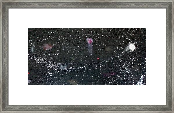 Framed Print featuring the painting Starry Night by Michael Lucarelli