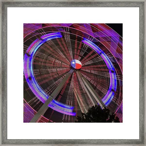 State Fair Of Texas Ferris Wheel Framed Print