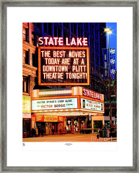 State-lake Theater Framed Print