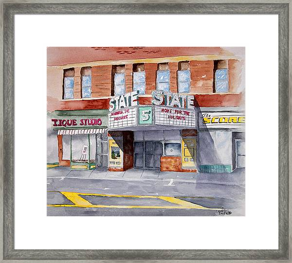 State Theater Framed Print