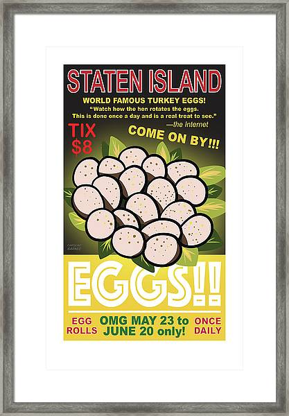Staten Islands Eggs Framed Print
