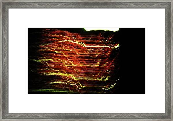 Static 6 Framed Print