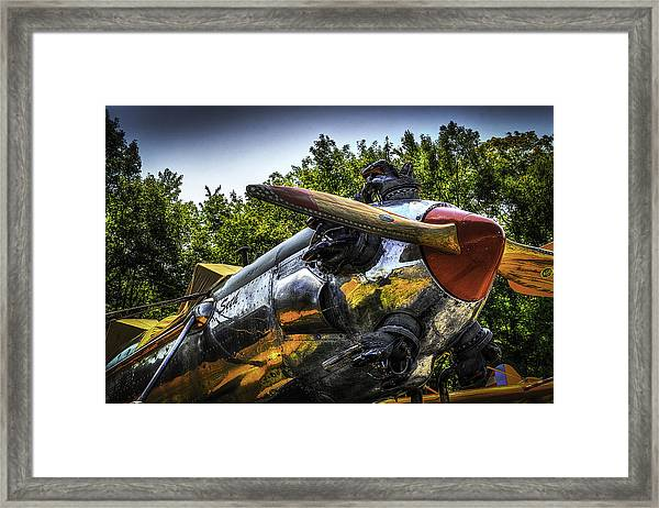 Static And Shiny Framed Print