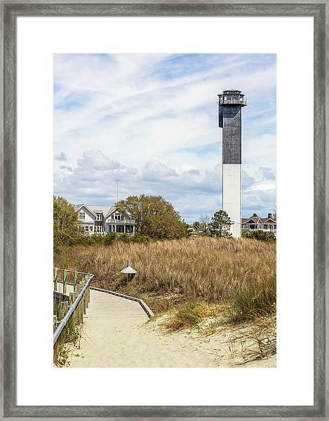 Station 18 On Sullivan's Island, Sc Framed Print